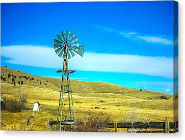 Canvas Print featuring the photograph Old Windmill by Shannon Harrington