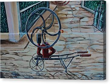 Old Wine Pump Canvas Print by Dany Lison
