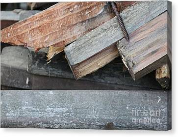 Old Wood Canvas Print by Marilyn West
