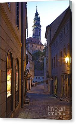 Old World Alley And Castle Canvas Print by David Buffington