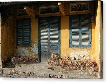 Old Yellow House In Vietnam Canvas Print by Tanya Polevaya