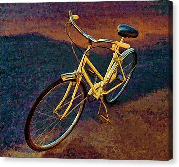 Canvas Print featuring the painting Old Yellow by Steven Richardson