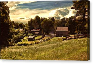Olden Times Canvas Print by Lourry Legarde