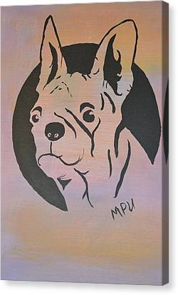 Canvas Print featuring the painting Ole Fella by Maria Urso