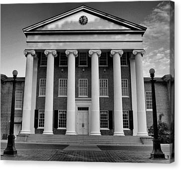 Ole Miss Lyceum Black And White Canvas Print by Joshua House