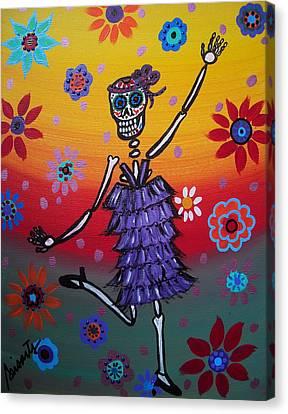 Day Of The Dead Canvas Print - OLE by Pristine Cartera Turkus