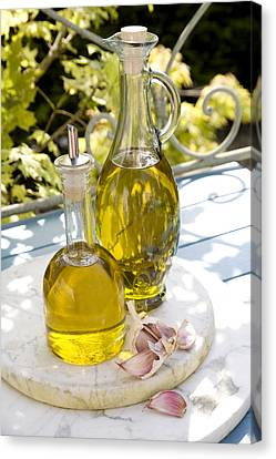 Olive Oil Canvas Print by Erika Craddock