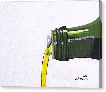 Olive Oil Canvas Print by Kayleigh Semeniuk