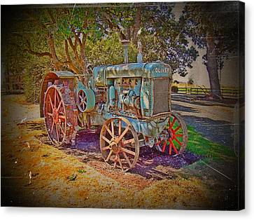 Oliver Tractor 2 Canvas Print by Nick Kloepping