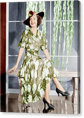 Olivia De Havilland, Ca. 1937 Canvas Print by Everett