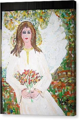 Olivia The Angel Canvas Print