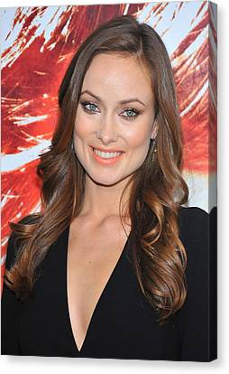 Olivia Wilde At Arrivals For The Next Canvas Print by Everett