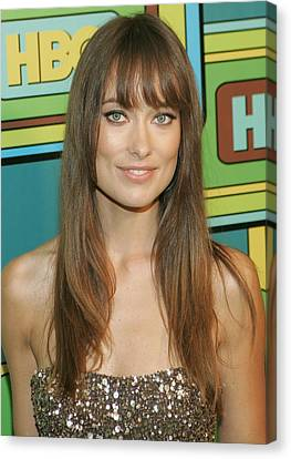 Olivia Wilde At The After-party Canvas Print by Everett
