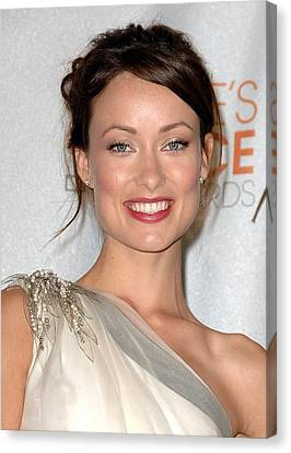 Olivia Wilde In The Press Room Canvas Print by Everett