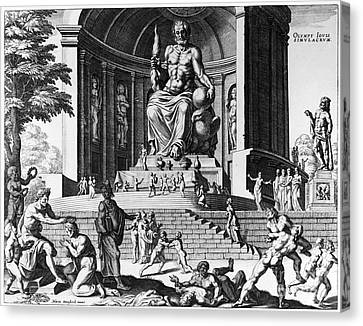 Olympia: Statue Of Zeus Canvas Print by Granger
