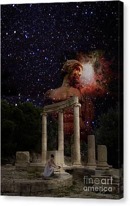 Olympia's Temple Canvas Print by Pavlos Vlachos
