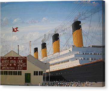 Olympic At Ocean Dock Canvas Print by James McGuinness