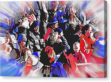 Olympic Crowd Snapshot Canvas Print by Steve Ohlsen