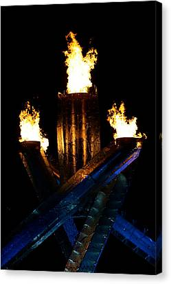 Olympic Flame Canvas Print