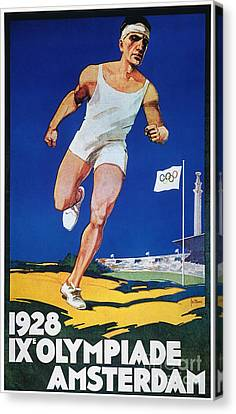 Footrace Canvas Print - Olympic Games, 1928 by Granger