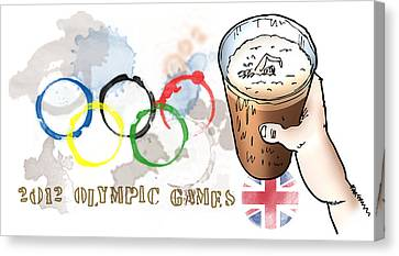 Olympic Rings Canvas Print by Mark Armstrong