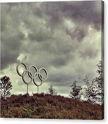 #olympicpark #olympics #london2012 Canvas Print by Samuel Gunnell