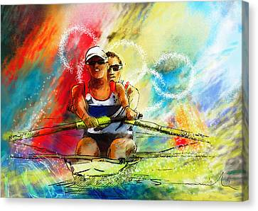 Olympics Rowing 03 Canvas Print by Miki De Goodaboom