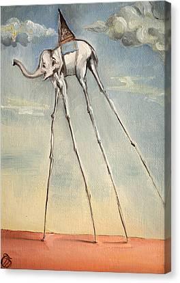 Omaggio A Salvador Dali' 2010 Canvas Print by Simona  Mereu