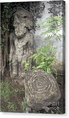 Ometepe Sculptures Nicaragua Canvas Print by John  Mitchell