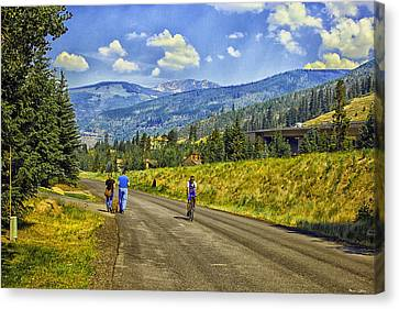 On A Country Road Canvas Print by Madeline Ellis