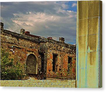 Canvas Print featuring the photograph On A Downtown Street In Southwest Texas by Louis Nugent