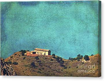 On A High Rock Canvas Print by Angela Doelling AD DESIGN Photo and PhotoArt