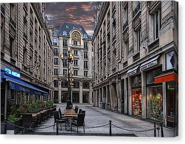 on an early sunday morning in Paris Canvas Print