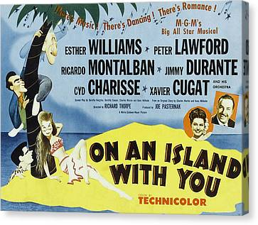 On An Island With You, Peter Lawford Canvas Print by Everett