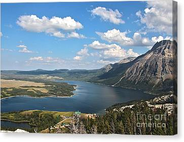 On Bear's Hump Canvas Print by Fred Emms