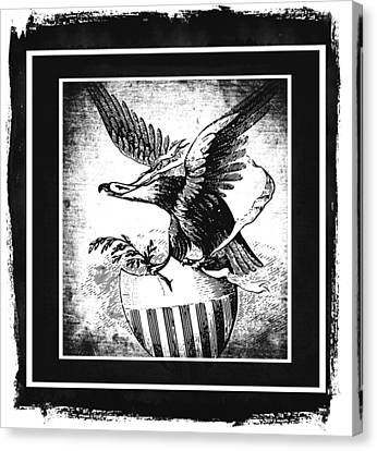 On Eagles Wings Bw Canvas Print by Angelina Vick