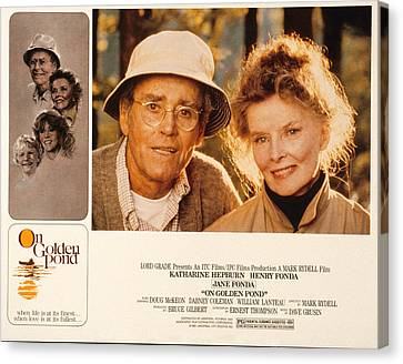 Posth Canvas Print - On Golden Pond, Henry Fonda, Katharine by Everett