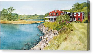 On Grist Mill Pond Canvas Print by Gregg Litchfield