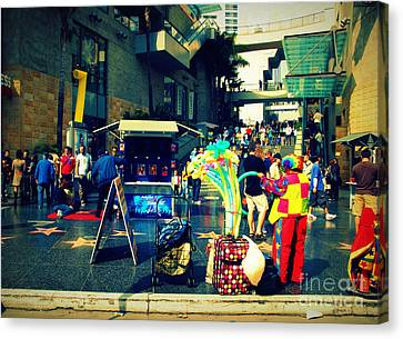 On Hollywood Boulevard In La Canvas Print