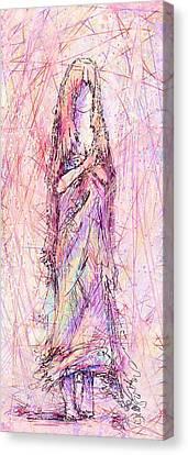 On My Toes Canvas Print by Rachel Christine Nowicki