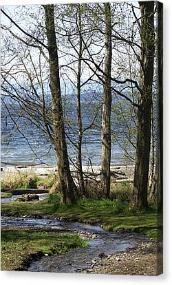 Canvas Print featuring the photograph On Puget Sound by Jerry Cahill