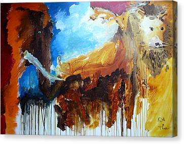Canvas Print featuring the painting On Safari by Keith Thue