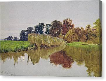On The Arun Stoke Sussex  Canvas Print by George Vicat Cole