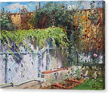 On The Backyard Of My Studio Canvas Print by Ylli Haruni