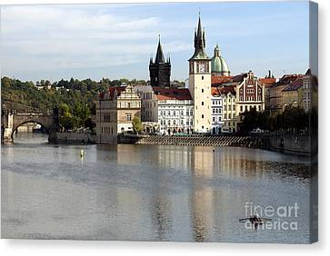On The Banks Of Vltava River Canvas Print by Ivy Ho