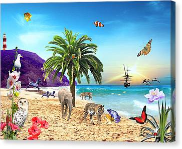 On The Beach Canvas Print by Emily Campbell