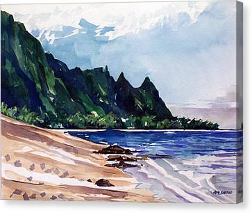 On The Beach Canvas Print by Jon Shepodd