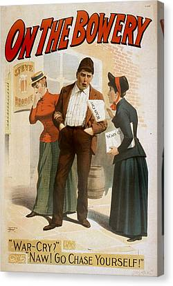 The Bowery Canvas Print - On The Bowery, A Salvation Army Soldier by Everett