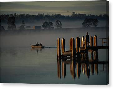 On The Clarence River Near Grafton, Two Canvas Print