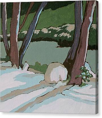 On The Creek Canvas Print by Sandy Tracey